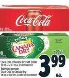 Coca-cola Or Canada Dry Soft Drinks 8 X 300 ml or 12 X 355 ml