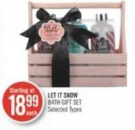 Let It Snow Bath Gift Set