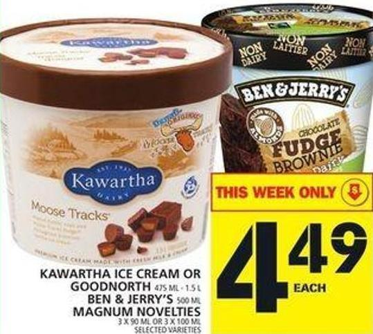 Kawartha Ice Cream Or Goodnorth Or Ben & Jerry's Or Magnum Novelties