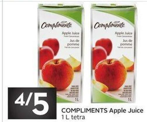 Compliments Apple Juice