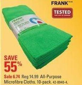 All-purpose Frank Microfibre Cloths