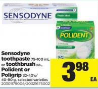 Sensodyne Toothpaste - 75-100 Ml Or Toothbrush Ea. - Polident Or Poligrip - 32-40's/40-90 g
