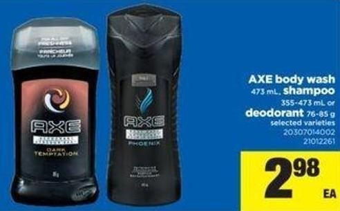 Axe Body Wash - 473 mL - Shampoo - 355-473 mL Or Deodorant - 76-85 g