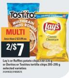 Lay's Or Ruffles Potato Chips 130-235 g Or Doritos Or Tostitos Tortilla Chips 205-295 g