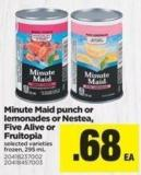 Minute Maid Punch Or Lemonades Or Nestea - Five Alive Or Fruitopia - 295 mL
