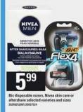 Bic Disposable Razors - Nivea Skin Care Or Aftershave