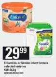 Enfamil A+ Or Similac Infant Formula - 550-663 G