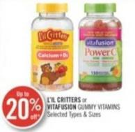 L'il Critters or Vitafusion Gummy Vitamins