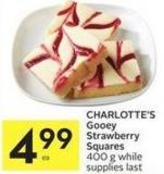 Charlotte's Gooey Strawberry Squares 400 g