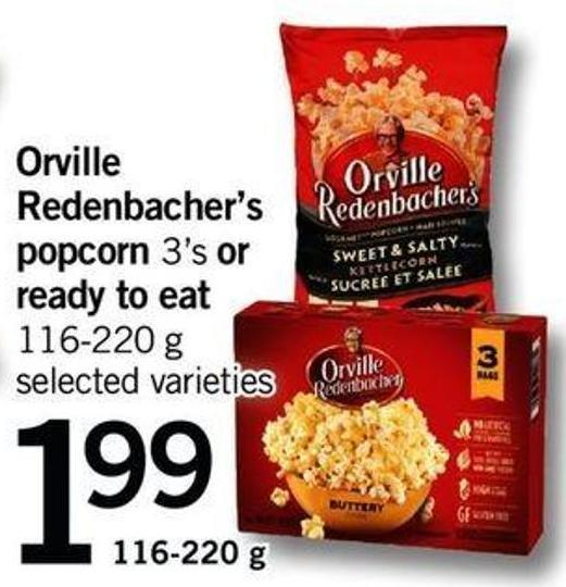 Orville Redenbacher's Popcorn 3's Or Ready To Eat - 116-220 G