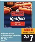 Maple Leaf Top Dogs Or Schneiders Red Hots Wieners - 375-450 g