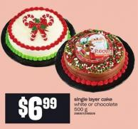 Single Layer Cake - 500 G