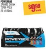Powerade Sports Drink Team Pack 24 X 591ml