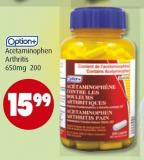 Option+ Acetaminophen Arthritis 650mg 200