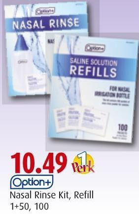 Option+   Nasal Rinse Kit - Refill   1+50 - 100