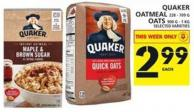 Quaker Oatmeal Or Oats