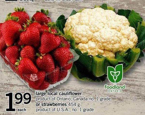 Large Local Cauliflower - Or Strawberries - 454 G