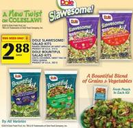Dole Slawesome! Salad Kits Or Dole Bountiful Salad Kits