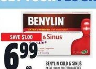 Benylin Cold & Sinus