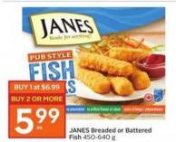 Janes Breaded or Battered Fish 450-640 g