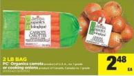 PC Organics Carrots Product Of U.S.A. - No. 1 Grade Or Cooking Onions