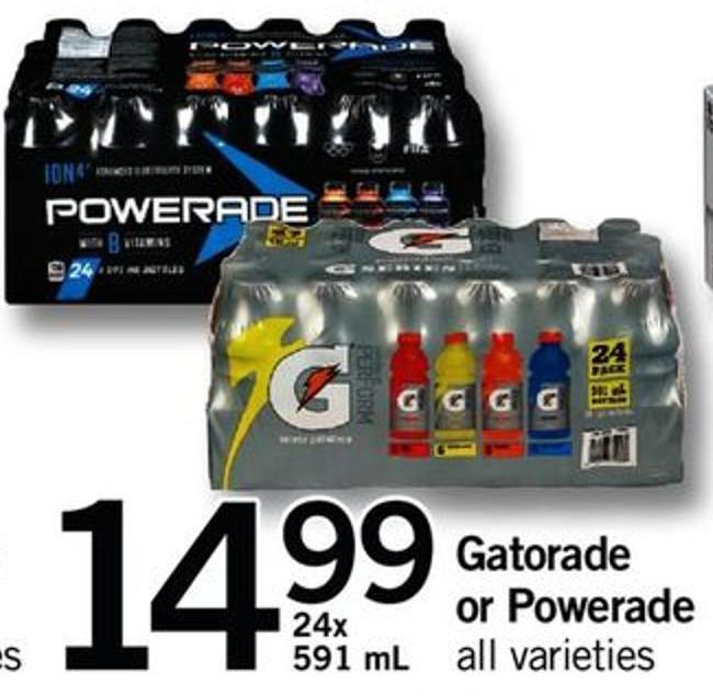 Gatorade Or Powerade - 24x 591 Ml