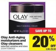 Olay Anti-aging Moisturizers And Olay Cleansers