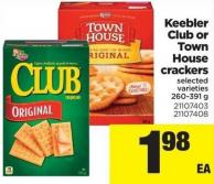 Keebler Club Or Town House Crackers - 260-391 G