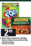 Nature Valley Granola Bars - 130-230 G - Gushers - 138 G Or Fruit By The Foot - 128 G