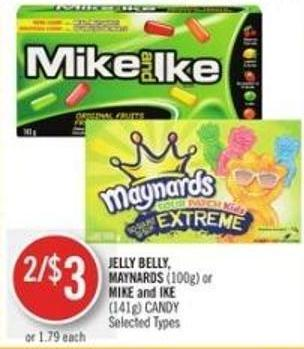 Jelly Belly Maynards (100g) or Mike and Ike (141g) Candy