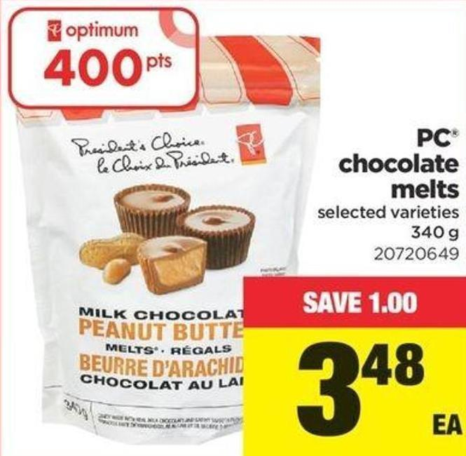 PC Chocolate Melts - 340 G