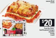From Our Chefs Beef & Spinach Lasagna Meal Box - 2.13 Kg