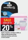 Hydro - Intuition Catridges/refills Or Edge And Skintimate Preps