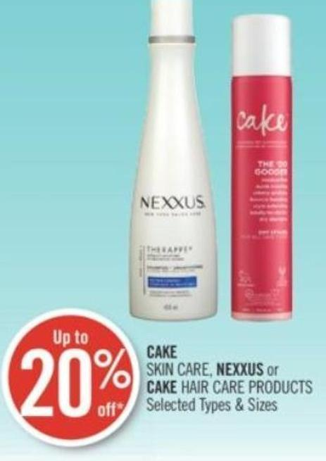 Cake Skin Care - Nexxus or Cake Hair Care Products