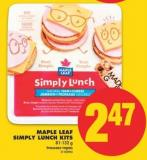 Maple Leaf Simply Lunch Kits - 81-132 g