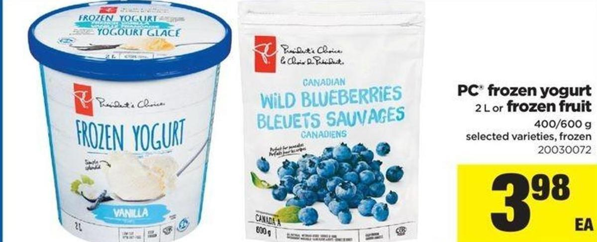 PC Frozen Yogurt 2 L Or Frozen Fruit - 400/600 G