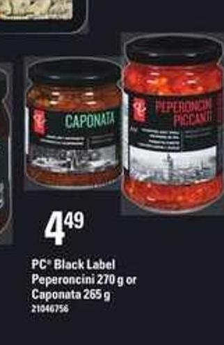 PC Black Label Peperoncini - 270 g Or Caponata - 265 g