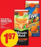 Five Alive Or Minute Maid Orange Juice - 1.75l