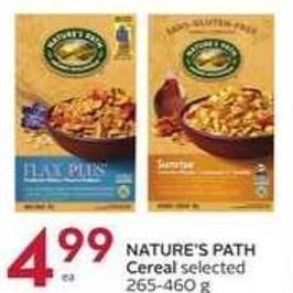 Nature's Path Cereal