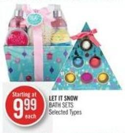 Let It Snow Bath Sets