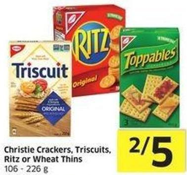 Christie Crackers - Triscuits - Ritz or Wheat Thins 106 - 226 g