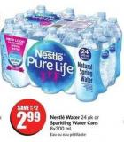 Nestlé Water 24 Pk or Sparkling Water Cans 8x300 mL