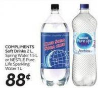 Big 8 Soft Drinks 2 L or Spring Water 1.5 L or Nestl' Pure Life Sparkling Water1 L