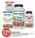 Webber Naturals Probiotic Capsules - Lutein or Omega-3 Fish Oil Softgel Natural Health Products
