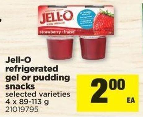 Jell-o Refrigerated Gel Or Pudding Snacks - 4 X 89-113 G