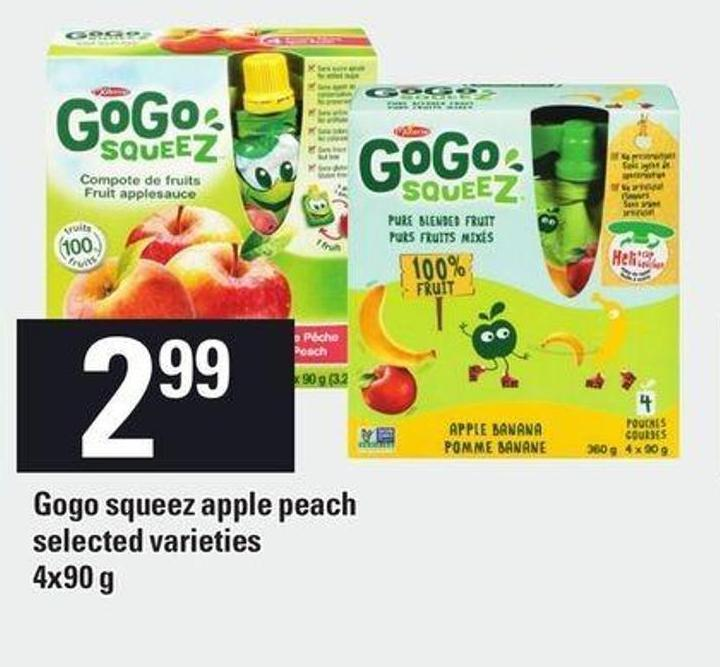 Gogo Squeez Apple Peach - 4x90 g