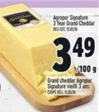 Agropur Signature 3 Year Grand Cheddar
