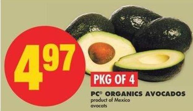 PC Organics Avocados - Pkg Of 4