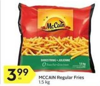 Mccain Regular Fries 1.5 Kg