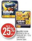 Gillette Fusion Proshield (8's) or Proglide (8's - 12's) Cartridges